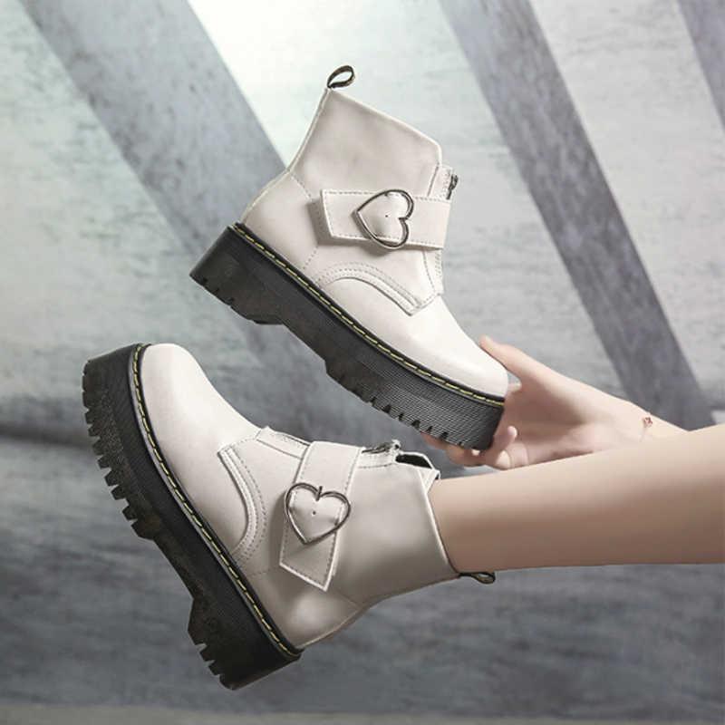 Yeni Kış Ayakkabı Kadın Botları Kadın Kışlık Botlar Martin Çizmeler Ayak Bileği çizmeler kadın ayakkabıları Deri Bota Kadın Patik Botas Mujer