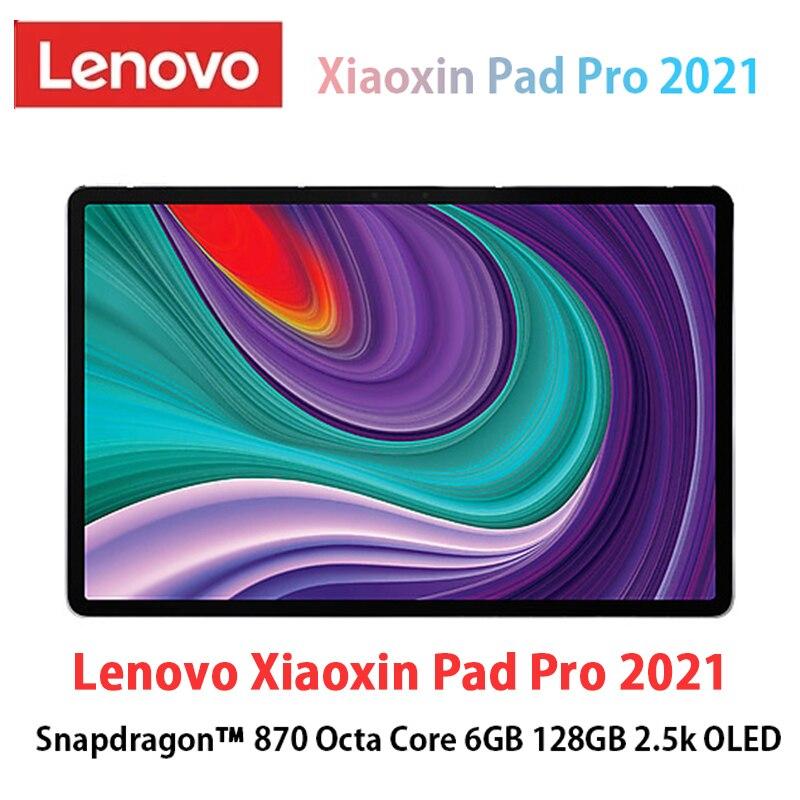Новый Lenovo XiaoXin Pad Pro 2021 Snapdragon 870 Octa Core 6 ГБ ОЗУ 128 ГБ 11,5 дюймов 2,5 K OLED экрана lenovo планшетный ПК с системой андроида и 11