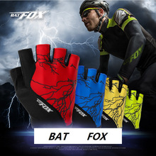 BATFOX HOT Sale Unisex Men Women Gel Cycling Half Finger Outdoor MTB Polyester Sports Bicycle Breathable Fitness Bike Gloves