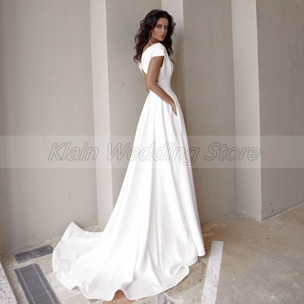 Wedding Dress Fashion Short Sleeve  5