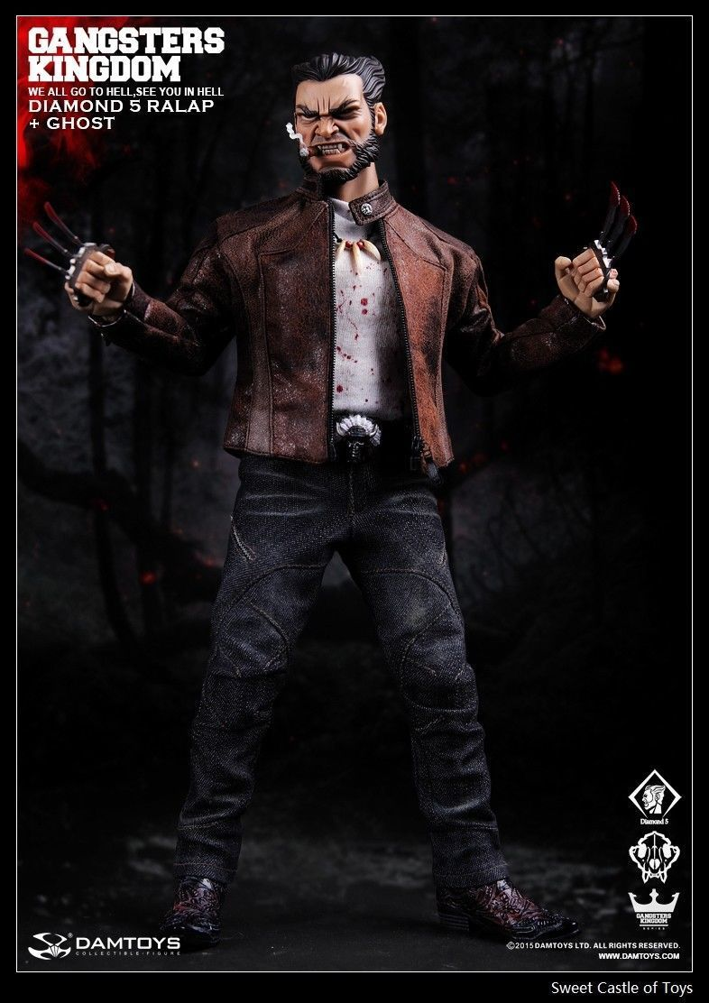 New 1/6 Dam Toys Damtoys Figure <font><b>Gangsters</b></font> <font><b>Kingdom</b></font> GK011 Diamond 5 Ralap w/Ghost Action Figure Cheap shipping fee image