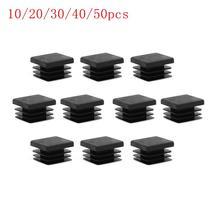 End-Cap Insert-Glide Plastic Black 1x1inch-Tubing 1-Hole-Plug Square-Tube 10/20/30-/..