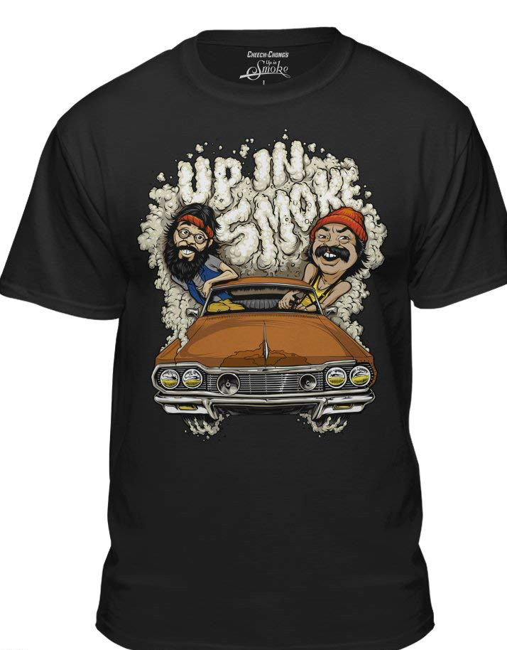 Cheech & Chong'S Up In Smoke Official Funny Weed Movie Black T Shirt Summer Style Mens T Shirt image