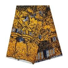 Нигерийская африканская восковая ткань высокого качества Анкара хлопок голландский воск Гана настоящий воск материалы для Indonisia батик