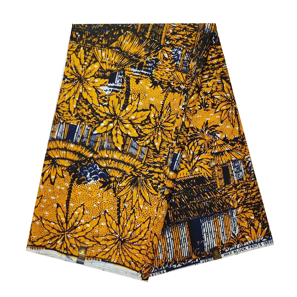 Nigerian African Pange Wax Fabric High Quality Ankara Cotton Dutch Wax Ghana Veritable Real Wax Materials For Indonisia Batik