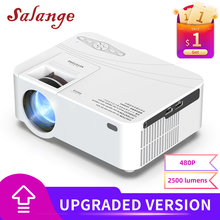 Salange Mini Projector P36,480P 2500 Lumens,Home Theater Mini Beamer LED Proyector with Android 10.0 Optional WiFi AV HDMI USB