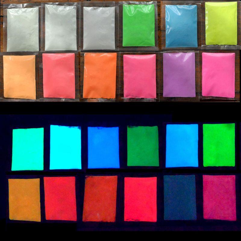 100g 12 Colors Luminous Resin Pigment Glow In The Dark Powder Pigment Colorant Nail Art Resin Jewelry Making Craft Tools
