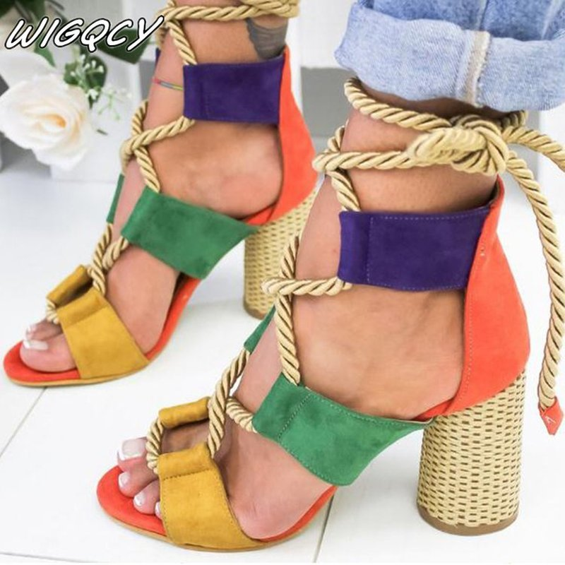 2020 Explosion Models Fashion Hollow Wedge Sandals Europe And The United States New High-heeled Sandals