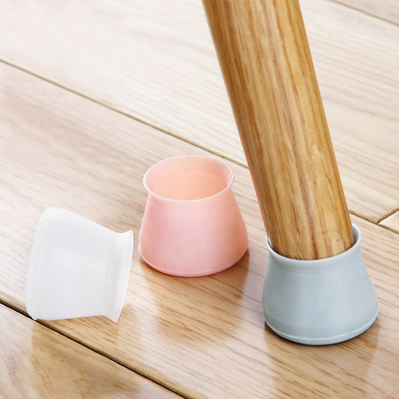 16Pcs Silicone Table Chair Leg Mat Thick Non-slip Table Chair Leg Caps Foot Protection Bottom Cover Pads Wood Floor Protectors