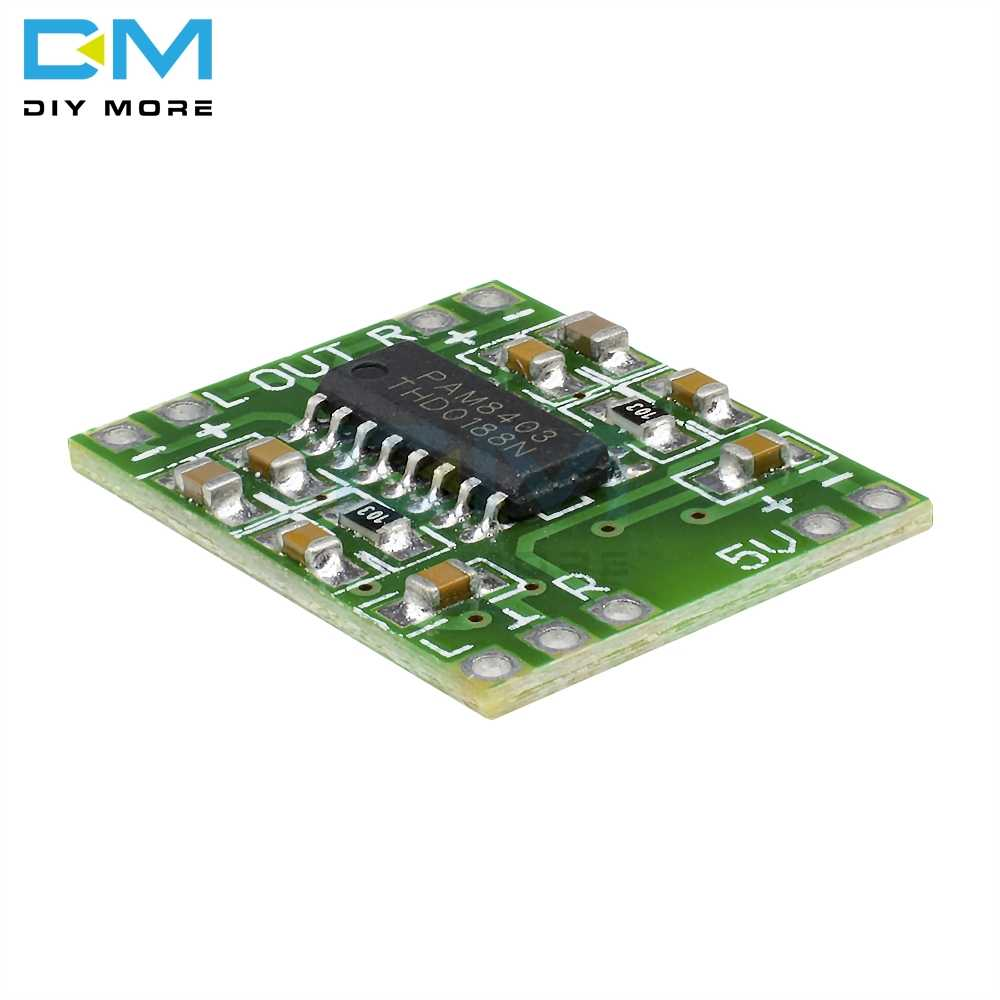 DC 5V 2 canaux stéréo 3W + 3W puissance numérique PAM8403 Module classe D carte amplificateur Audio USB puissance Ultra-miniature conception