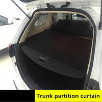 rear parcel shelf 2013 2018 FOR Mitsubishi Outlander trunk cover material curtain rear curtain retractable spacer Rear Racks