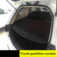 rear parcel shelf 2013-2018 FOR Mitsubishi Outlander trunk cover material curtain rear curtain retractable spacer Rear Racks