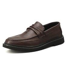 Male Leather Shoes Men Dress Shoes Business Classic Square Toe Leather Shoes Men Formal Footwear Slip-On 3#15/15D50 цена 2017