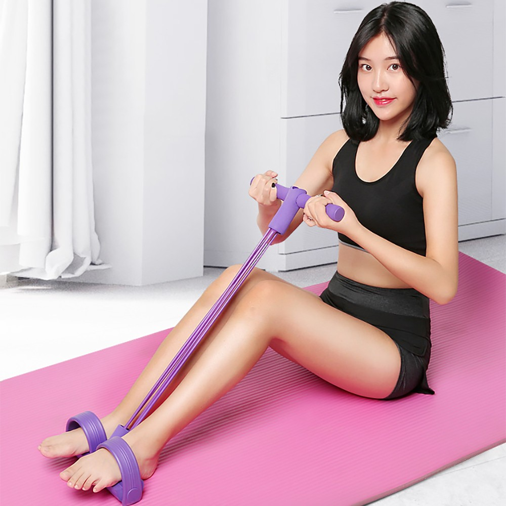 Fitness Gum 4 Tube Resistance Bands Latex Pedal Exerciser Sit-up Pull Rope Expander Elastic Bands
