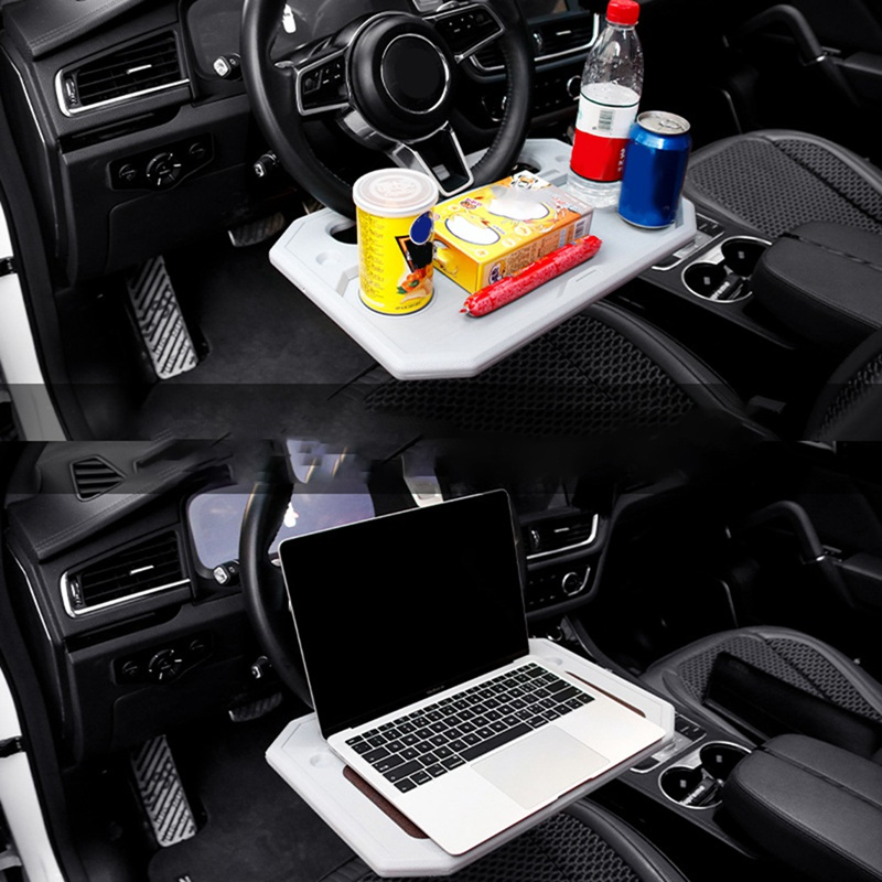 Multifunctional Laptop Steering Wheel Tray Desk Car Food Drink Table Holder Mount Car Card Table Computer