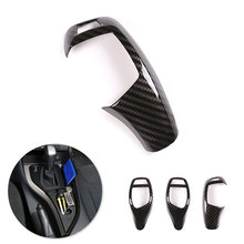 For BMW 1 2 3 4 5 Series F07 F10 F18 F20 F30 F31 F34 F15 F16 F25 F26 Carbon Fiber Car Gear Shift Gear Knob Head Frame Cover