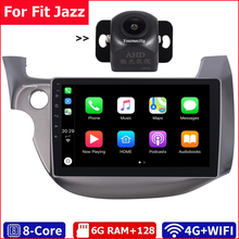 6G Ram + 128G Rom/Wifi + 4G/2Din Auto Radio Stereo Audio Tablet Android 10 Gps Bt Video Speler Usb Voor Honda Fit Jazz 2007-2012