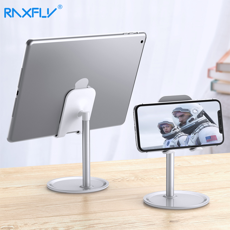 RAXFLY Phone Holder Desk Tablet Phone Holder Universal Desktop Tablet Stand For Mobile Phone Holder Cellphone Tablet Stand Mount