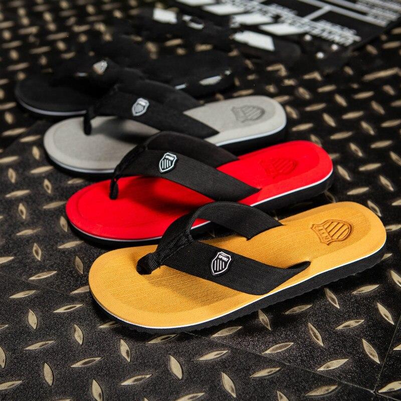 2019 New Arrival Summer Men Flip Flops High Quality Beach Sandals Anti-slip Zapatos Hombre Casual Shoes Wholesale A10