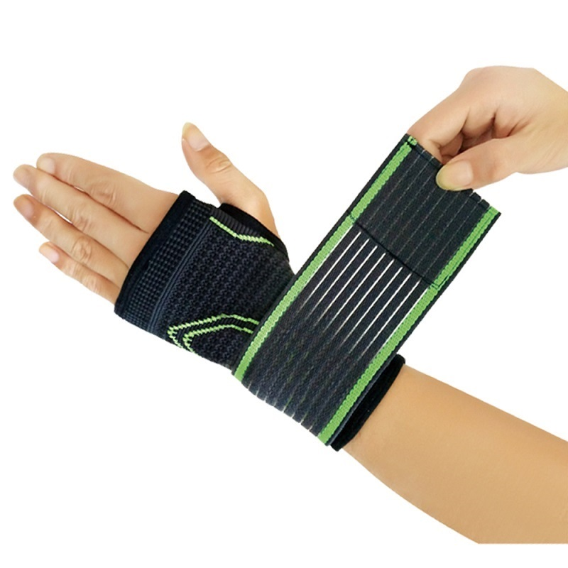 Men's Palm Wrist Wraps Outdoor Cycling Sports Riding Wrist Protector Breathable 1Pairs