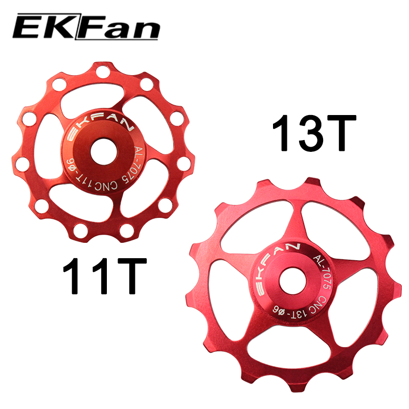 New EKFan 2pcs 10 Color MTB Mountain Road Bikes Bicycles 11T 13T Rear Derailleur Pulley Roller Idler Bearing Jockey Wheel Parts(China)