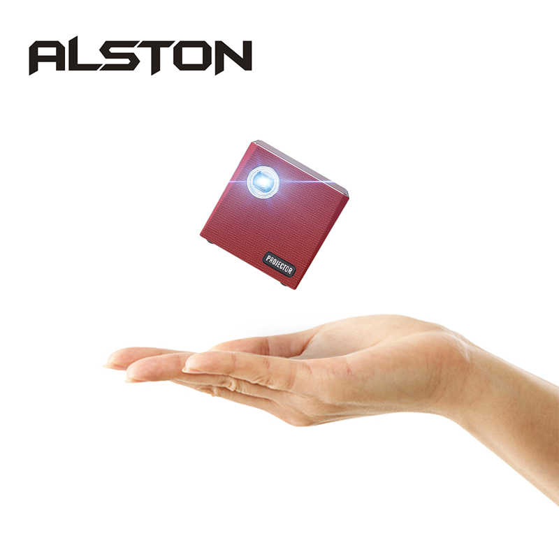 ALSTON-miniproyector LED C80 DLP Android, con WiFi y Bluetooth 4,0, cine en casa, compatible con Miracast Airplay