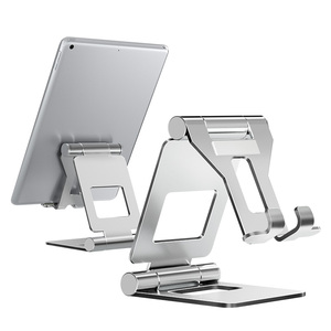 LINGCHEN Foldable Tablet Holder Stand Adjustable Metal Material Big Size Phone Holder Aluminium Alloy For iPad mini/ipad air(China)