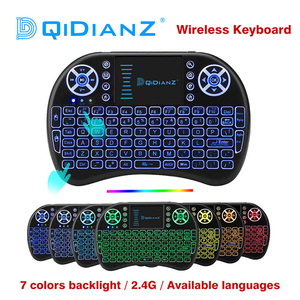 i8 2.4GHz Backlit keyboard supports multiple languages suitable for smart TV set-top boxes mini pc