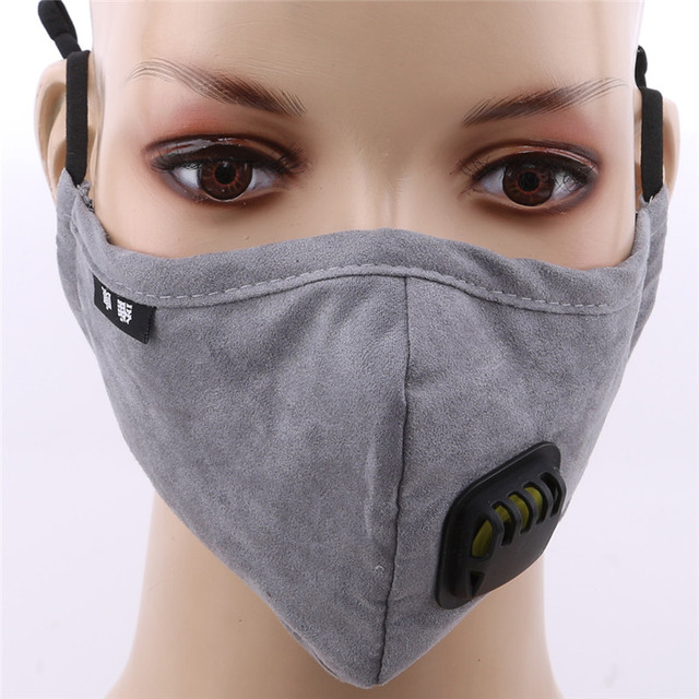 Anti Dust Mask Activated Carbon Filter PM2.5 Mouth Mask Windproof Mouth-muffle Bacteria Proof Flu Facial Masks Care 5