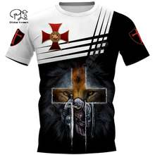Мужская и женская футболка knights templar летние 3d футболки