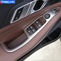 Стайлинг автомобиля из нержавеющей стали, дверь, подлокотник, панель, декоративные крышки, окно, стекло, кнопки, наклейки, отделка для BMW X5 G05 ...