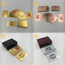 24K золото/серебряная фольга игральные карты покер цветные 100 USD или мозаика покер для рекламных подарков и игры палинг