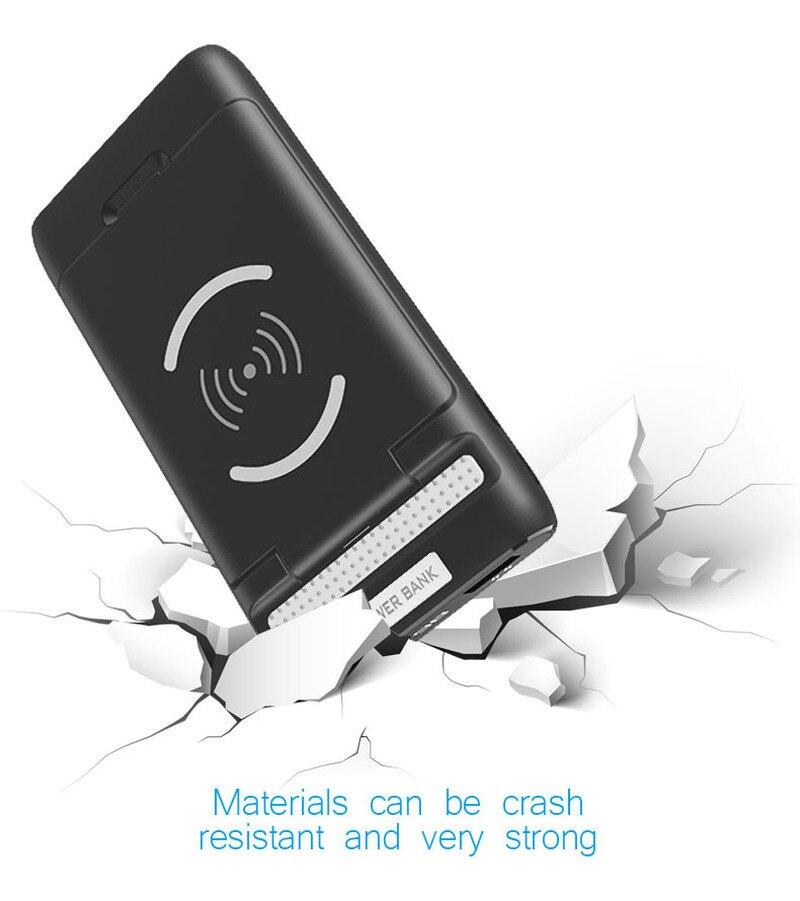 Banco de energía inalámbrico 30000mah cargador portátil Usb Powerbank PoverBank cargador de batería externa para Xiaomi mi 9 8 IPhone Huawei