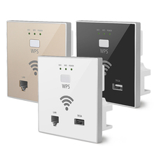 300Mbps in Wall WiFi Access Point Wireless Socket AP for Hotel Wi-Fi Project Mini WIFI Repeater Router USB WPS Encryption