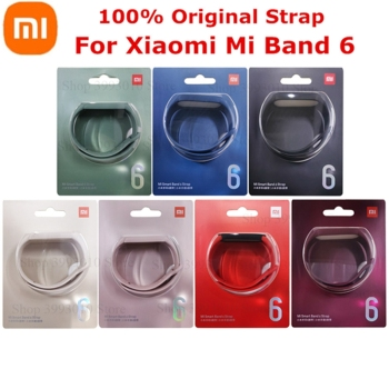 100% Original Xiaomi Mi Band 6 Strap Silicone miband 6 Replacement Bracelet Wristbands for xiaomi mi band 6 mi band6 Wrist Strap 1