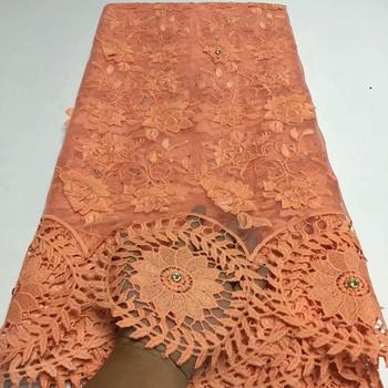 African Lace Fabric 2020 Embroidered Nigerian Laces Fabric Bridal High end French Tulle Lace Fabric For Wedding Party