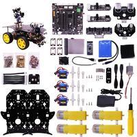 Ultimate Starter Kit for Raspberry Pi 3 B+ HD Camera Programmable Smart Robot Car Kit DIY Stem Toy Kit for Teens