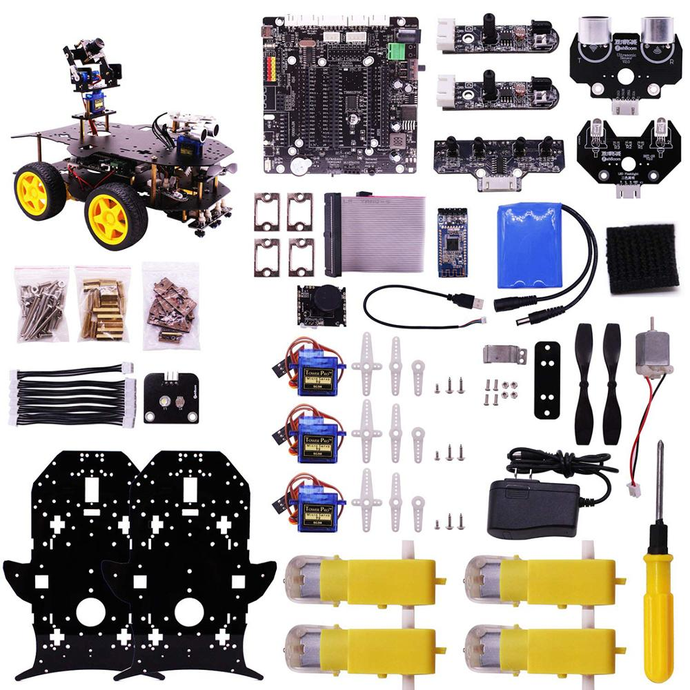 Ultimate Starter Kit For Raspberry Pi 4/1G HD Camera Programmable Smart Robot Car Kit With 4WD Electronics Education DIY Stem