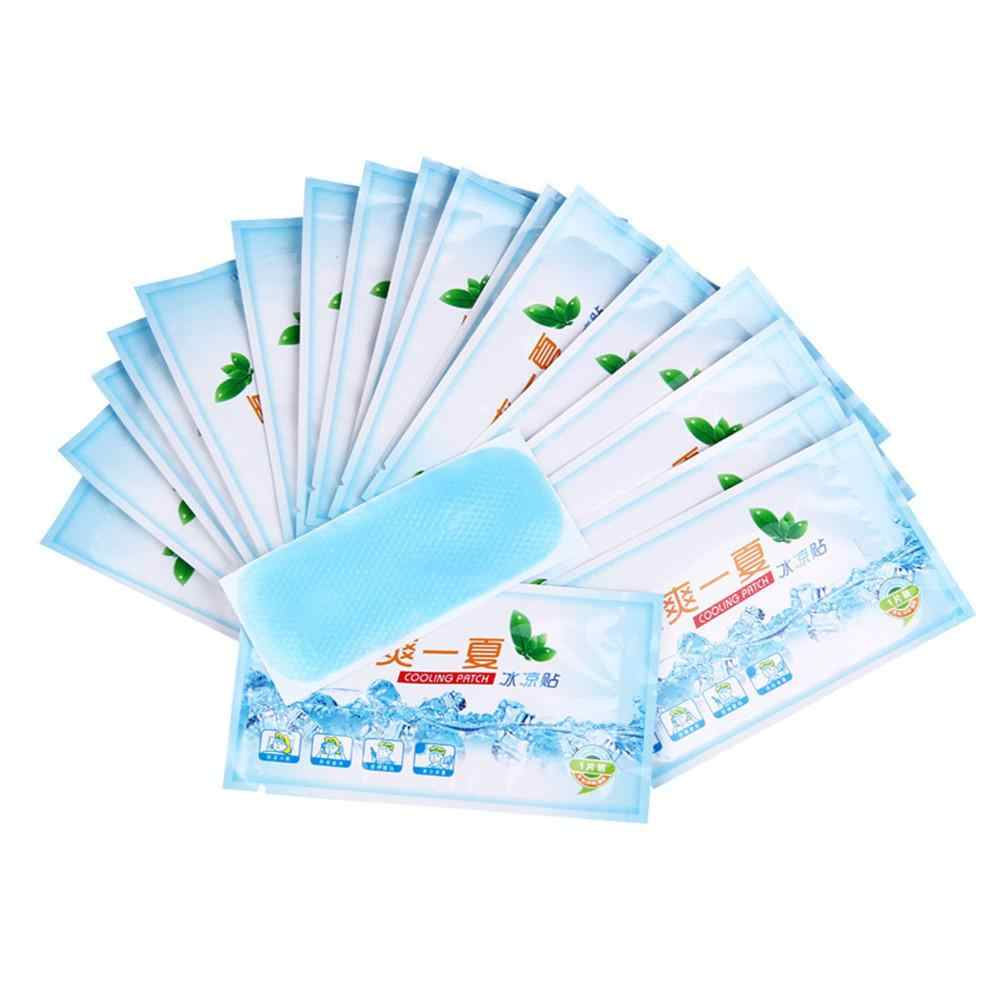1Pcs Cooling Patch Down Koorts Ice Medische Gips Anti Hot Lagere Temperatuur Polymeer Hydrogel Familie Buiten Essentiële Patches
