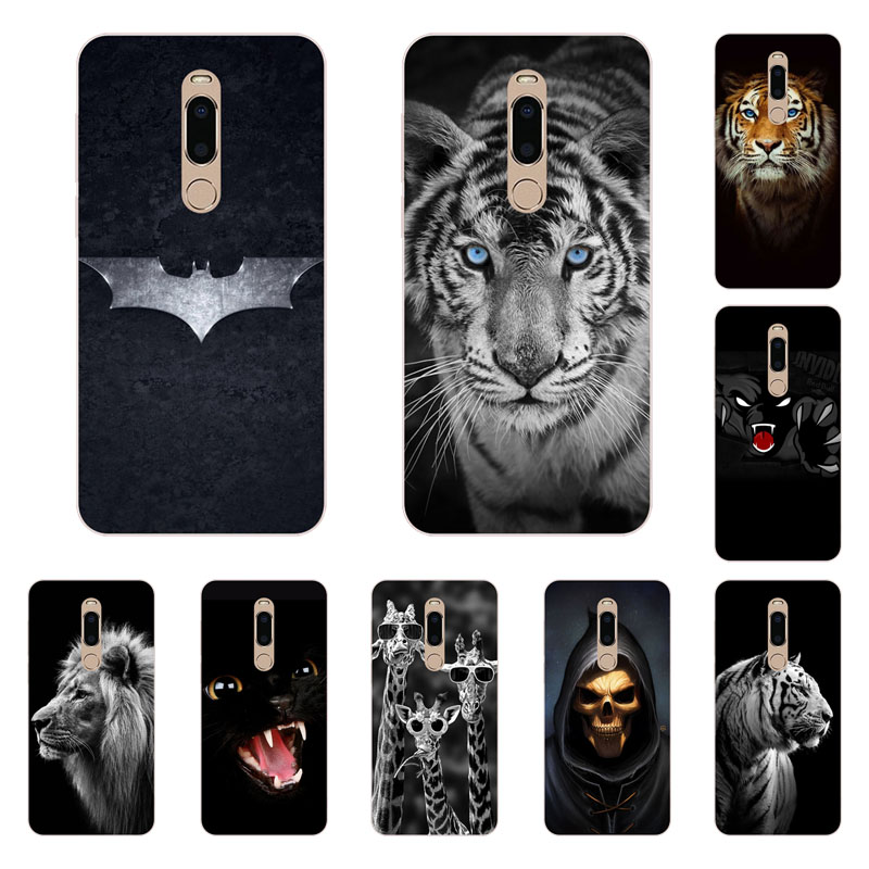 meizu note 8 Case,Silicon Fierce animals Painting Soft TPU Back Cover for meizu note 9 protect Phone bags