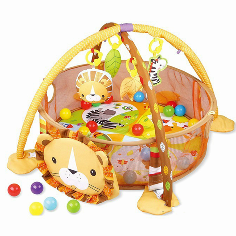 Baby Play Mat 3 In 1  Round Lion Turtle Crawling Mats Blanket Infant Game Pad Play Rug Kids Activity Mat Gym Folding Tapete | Happy Baby Mama