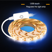 1M 2M 3M 4M 5M LED Lamp With 2835 SMD USB Touch Regulated Waterproof Soft Home Cabinet Decoration Light Bar