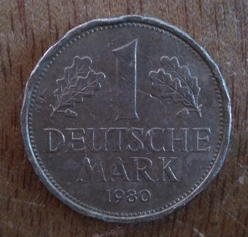 Germany 1 Mark Coins Eu Edition Europe 100% Real Original Used Coin Old Random Year