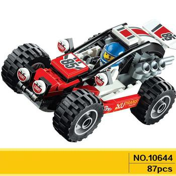 10644 City Great Vehicles Series Buggy Building Blocks Racing Car Model Bricks Toys Compatible  60145 yile 006 caterham seven 620r building blocks model compatible 21307 racing car toys for children