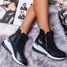 Plus Size Warm Plush Winter Botas Chunky Sneakers Ankle Boots Women Shoes Ladys Zipper Buckle Thick Sole Platform Zapatos Mujer