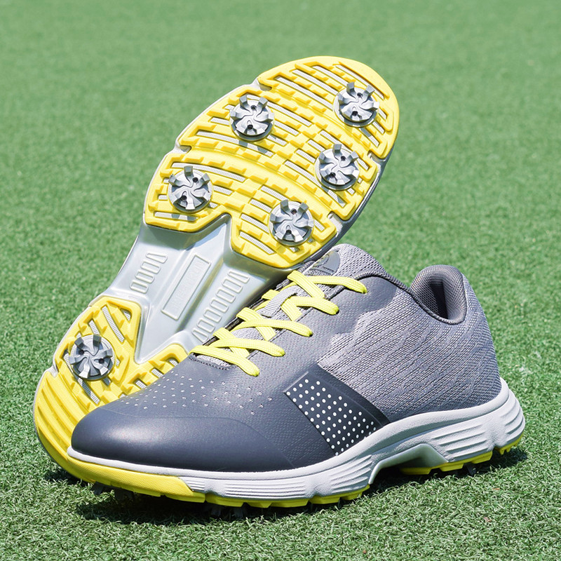 Men Professional Golf Shoes Waterproof Spikes Golf Sneakers Black White Mens Golf Trainers Big Size Golf Shoes for Men 11