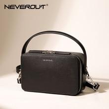 NEVEROUT Brand Small Handbag for Women Split Leather Shoulder Cross body Bag with Handle Ladies Zipper Flap Bag Black/Green/Gray