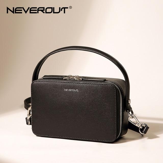NEVEROUT ブランドの小さなハンドバッグ分割レザーショルダークロスボディバッグハンドルと女性ジッパーフラップバッグブラック/ グリーン/グレー