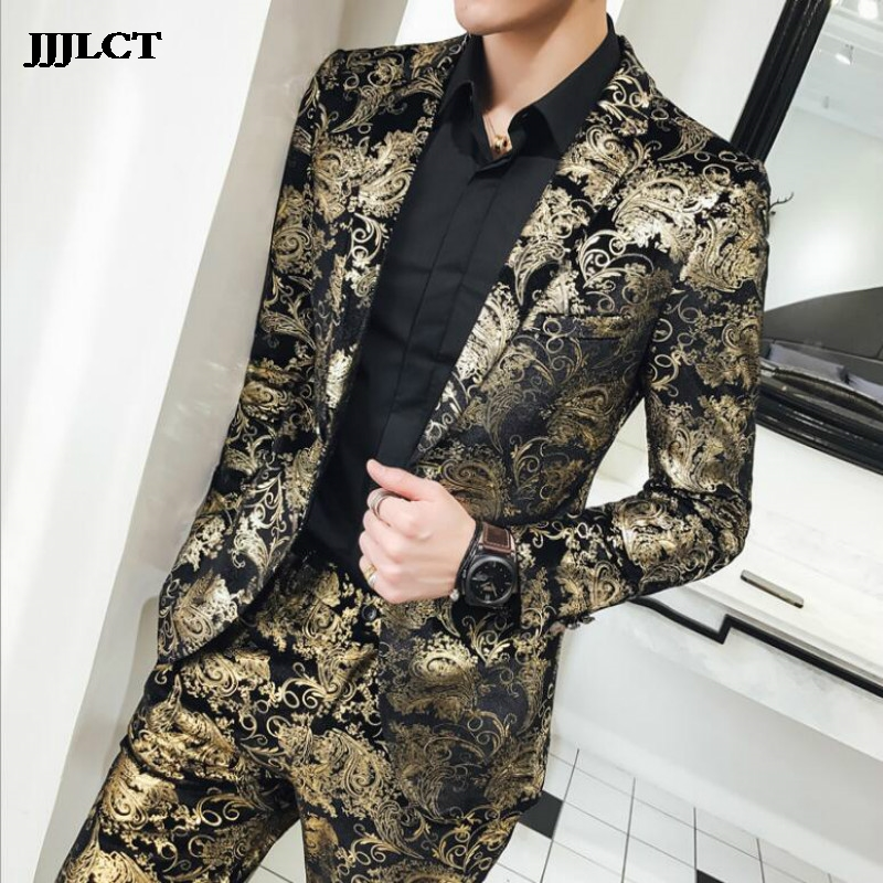 Men's Suits, Stage Performances, Banquets, European And American Style, Big Code, Nightclub, Host Costumes