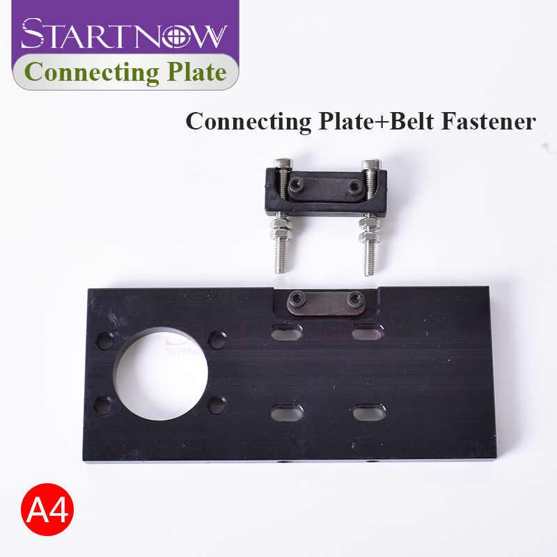 Startnow DIY CO2 conjunto de cabezales láser lente de enfoque montaje espejo láser soporte Base integrativa para máquina cortadora herramientas de Hardware de Metal